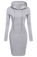 Hooded Sweatshirt Long-sleeved Dress