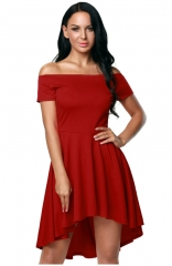 Off-The-Shoulder Short Sleeve Dress