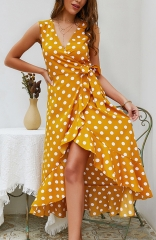Yellow Regular Dot Dress