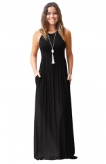Women's Sleeveless Maxi Dress Casual Long Dresses with Pockets